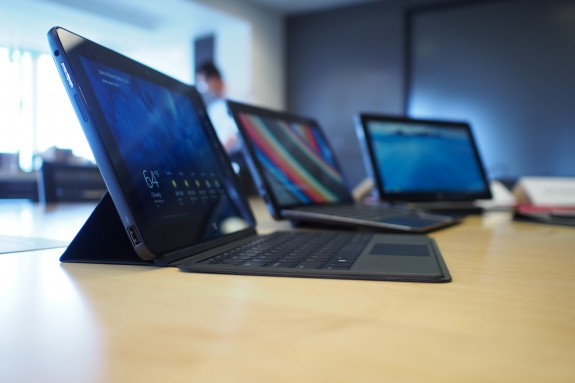 Various different keyboards are available for the Dell Venue 11 Pro family.
