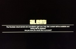 """GTA Online problems, like this one telling gamers """"The Rockstar cloud servers are unavailable right now."""" are hampering the GTA Online release."""