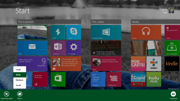How to Resize Live Tiles in Windows 8 (5)