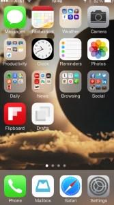 Folder icons look like pimples