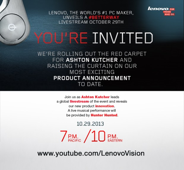 Lenovo teases a better tablet for October 29th.