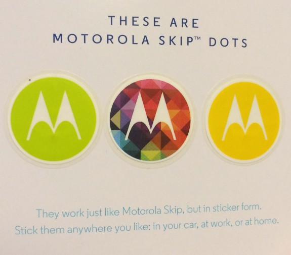 Automatically unlock the Moto X when you place it on one of these stickers.