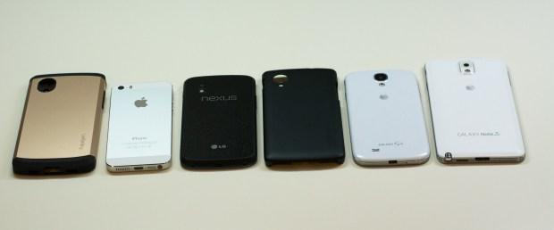 Nexus 5 size comparison.