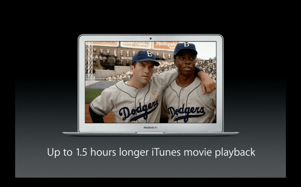 OS X Mavericks brings better battery life to HD video playback.