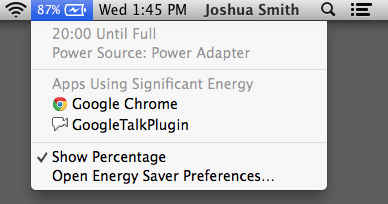 See which apps are using up your battery in OS X Mavericks.