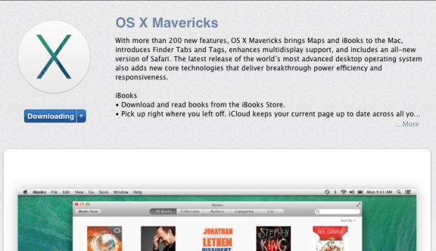 Download the OS X Mavericks update.