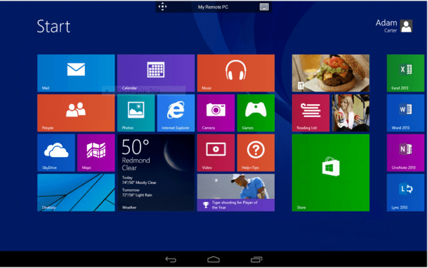 Remote Desktop for Android allows users to connect to their work or home PCs running Windows.