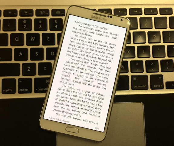 Reading mode makes the screen easier on your eyes.