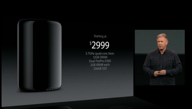 mac pro starts at $2999