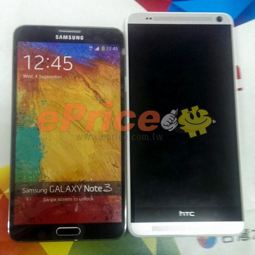 The Samsung Galaxy Note 3 vs. HTC One Max.