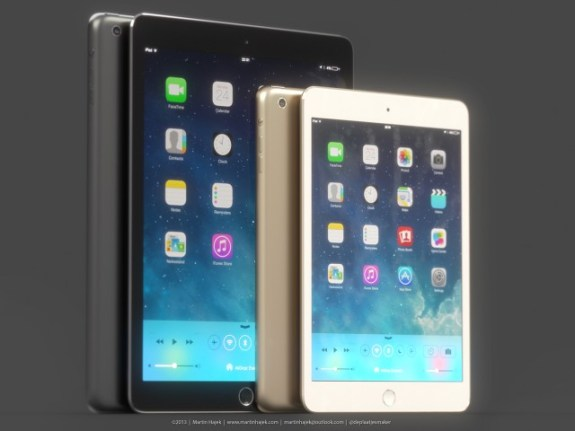 We could see an iPad 5 this year and a larger iPad in 2014.