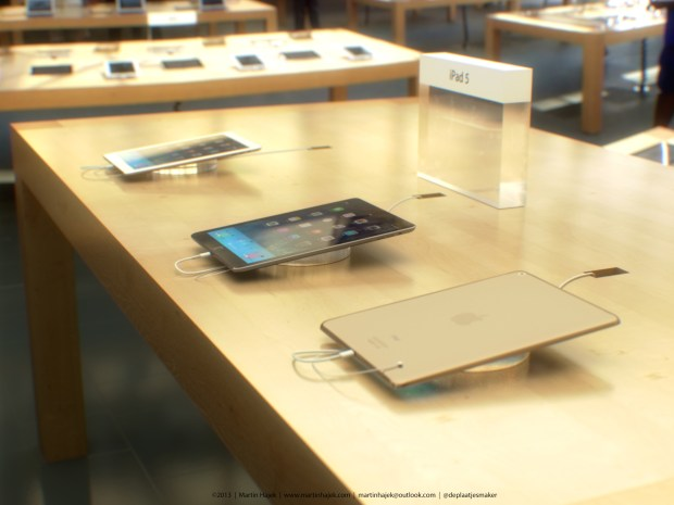 Render shows what the iPad 5 release date could look like in Apple Stores.