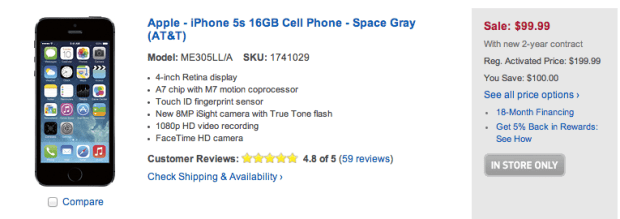 Cheap iPhone 5 deal for new lines, new customers or switchers.