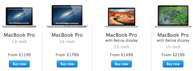 The new MacBook Pro release should come online and in store within days.