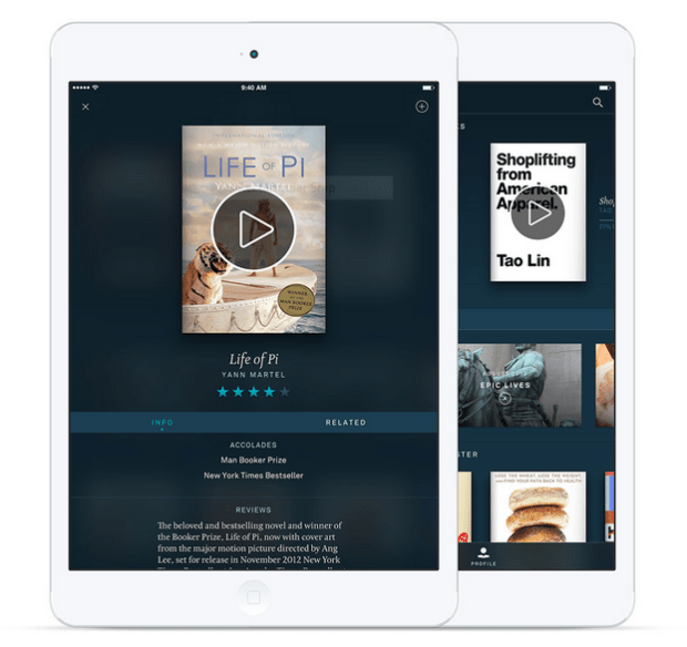 Oyster for iPad