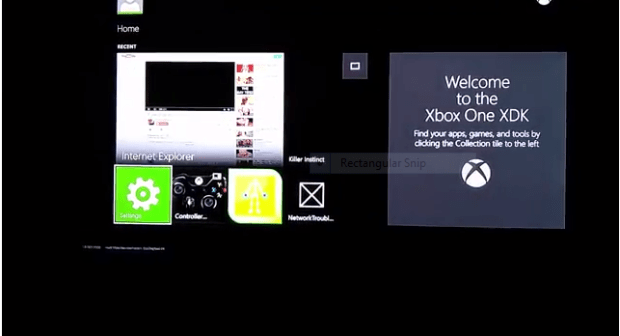 xbox one dashboard XDK
