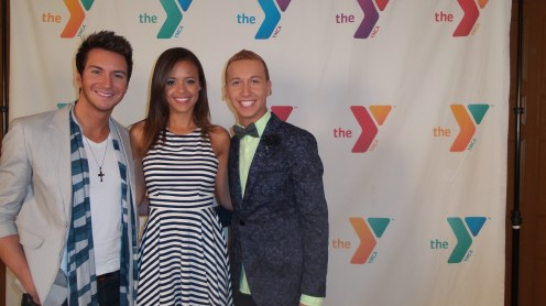 With the Xeonon flash, the Zoom renders skin tones more naturally than the Lumia 1020's Xenon. Pictured: American Idol Season 12 contestants: Paul Jolley, Aubrey Cleland, and Devin Velez at an AT&T red carpet event benefiting the YMCA of LA.