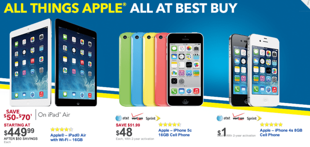 Best Buy's Black Friday 2013 ad is full of Apple deals including those for the iPad Air.