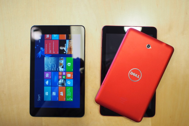 Dell's new tablet range includes Android or Windows, and color options for red or black.