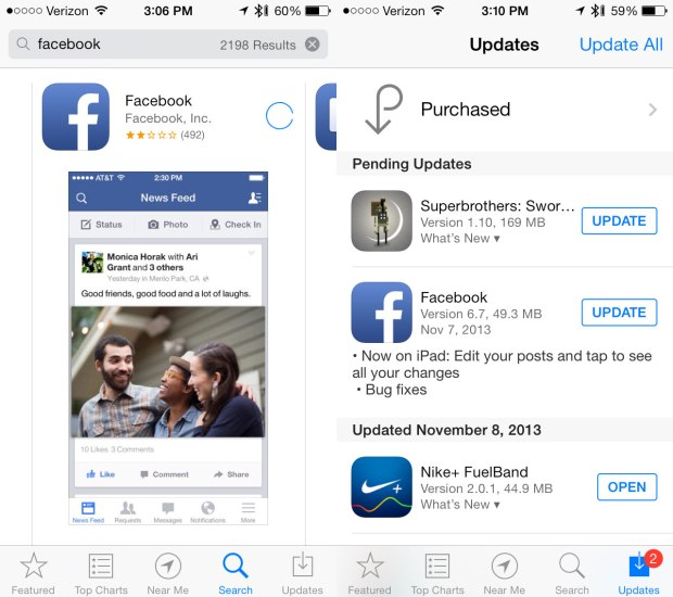 Facebook for iPhone 6.7 is crashing for most users, here's a possible fix.