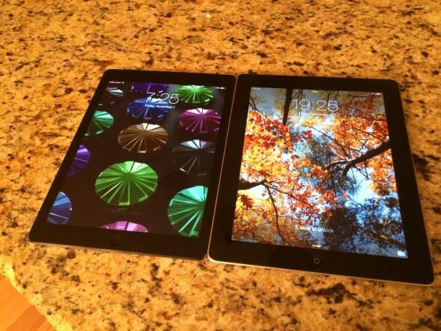 iPad Air and iPad 4 comparisons
