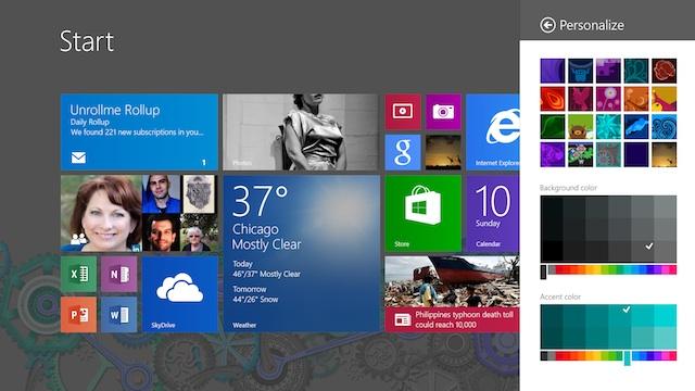 Start Screen Personalization