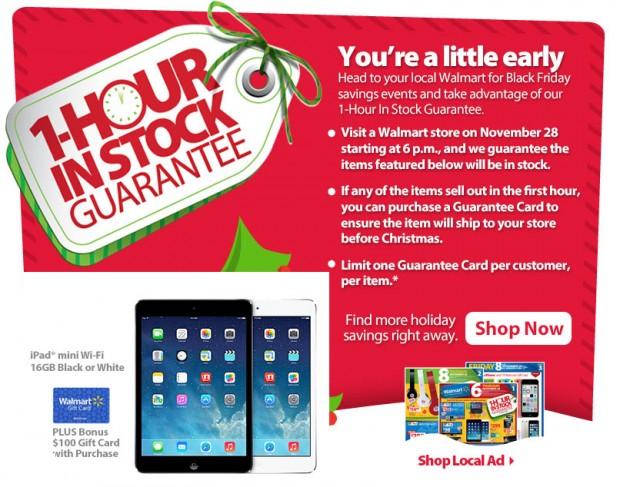 Walmart-Black-Friday-2013-iPad-Mini-guaranteed-in-stock
