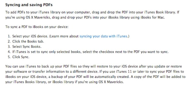 From Apple's Support iBooks Support Documentation