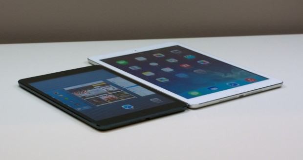 The iPad Air and iPad mini run iOS 7, but the iPad Air will likely receive more software updates in the future.