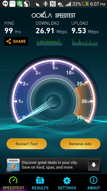 speedtest using wi-fi