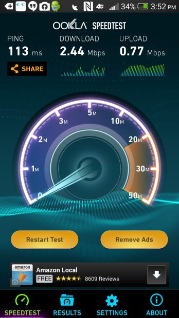speedtest using cel-fi