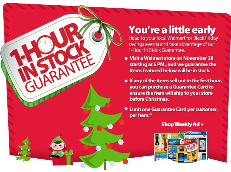 walmart guaranteed black friday stock - Walmart Black Friday Christmas Tree