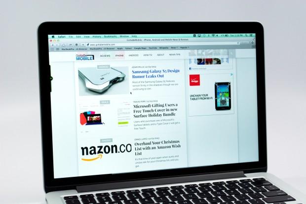 The 13-inch MacBook Pro Retina display is beautiful.