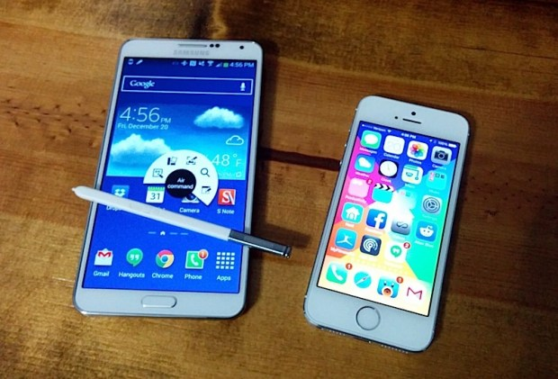 The Samsung Galaxy Note 3 S Pen and software is an advantage over the iPhone 5s.