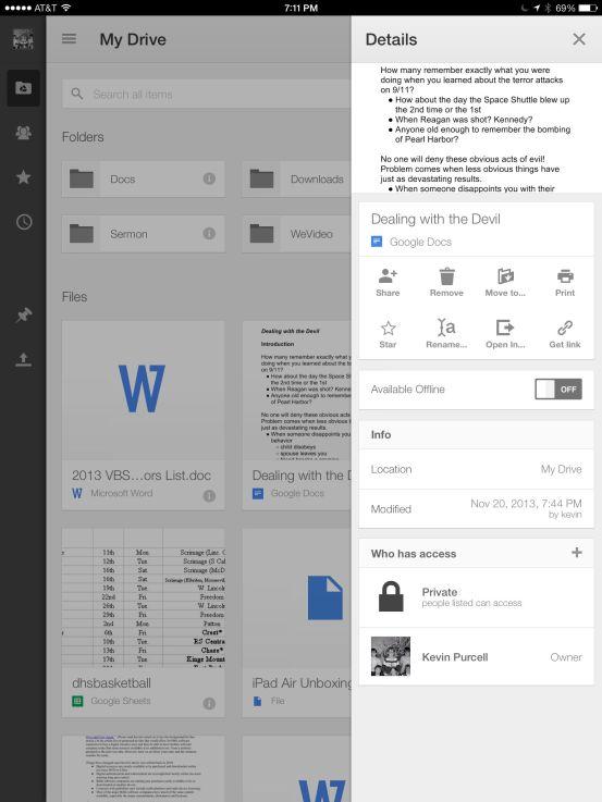 google cloud print from google drive