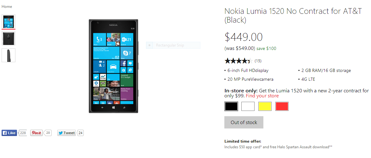 Nokia Lumia 1520 Deal At The Microsoft Store Is A Switcher's