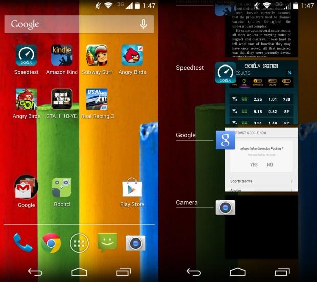 The Moto G runs Android 4.4.2.
