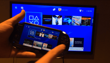 PS4 on the PS Vita.