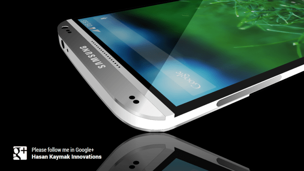 Samsung Galaxy S5 concept with metal design.