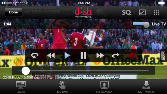 Watch TV on the iPhone with Dish, from almost anywhere.