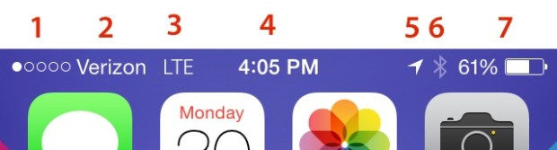 iPhone Symbols iOS 7
