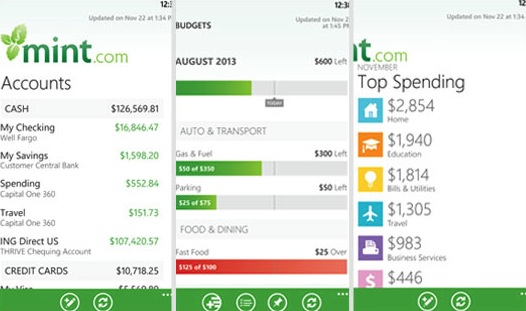 mint for windows phone
