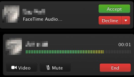 OS X Mavericks FaceTime Audio