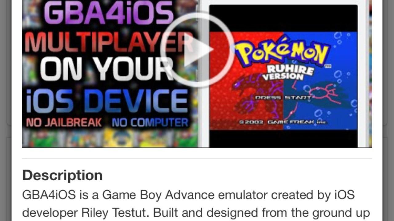 GameBoy Emulator for iPhone Is Back, No Jailbreak Required