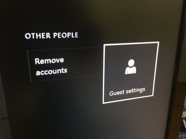 Turn on Guest Accounts to stop visitors from fiddling with your game saves and settings.