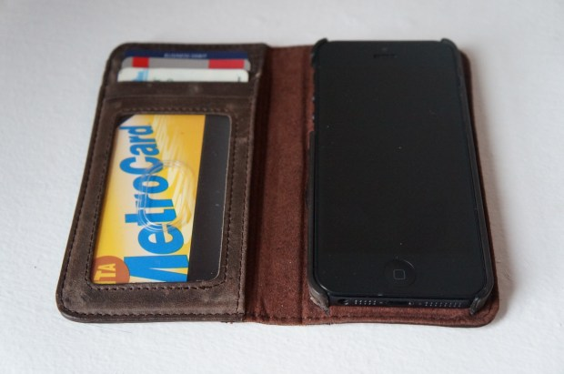 BookBook offers and iPhone 5 wallet option with a unique look.