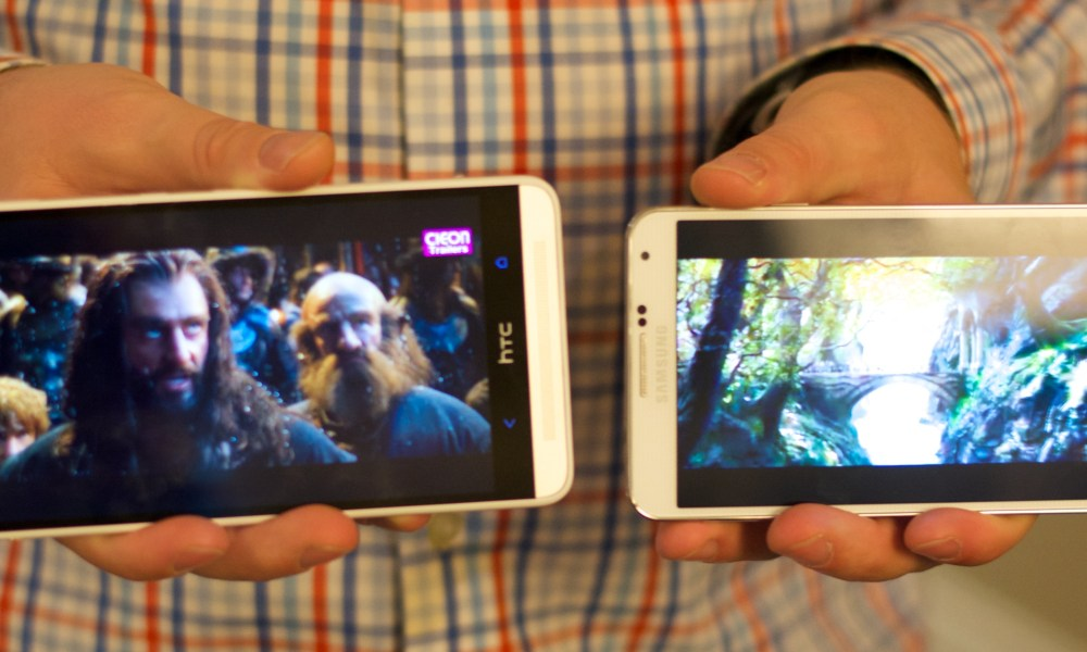 samsung galaxy note 3 vs htc one max video