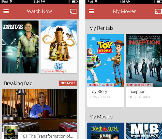 google play download movies to pc
