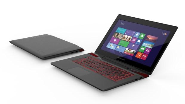 Lenovo's Y50 with backlit keyboard.