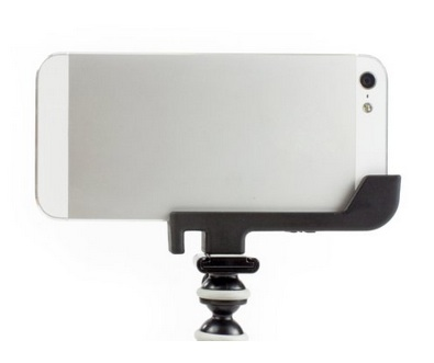 This is a nice way to add a tripod mount to an iPhone 5 if you also use a minimalist case.